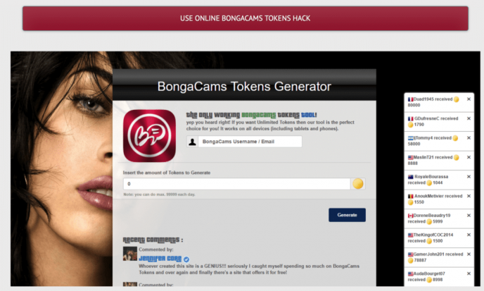 One of the most visited bongacams hacking site - of course it is a scam