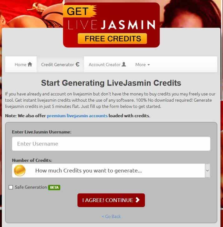 Livejasmin hack which suppose to give free credits - But will not