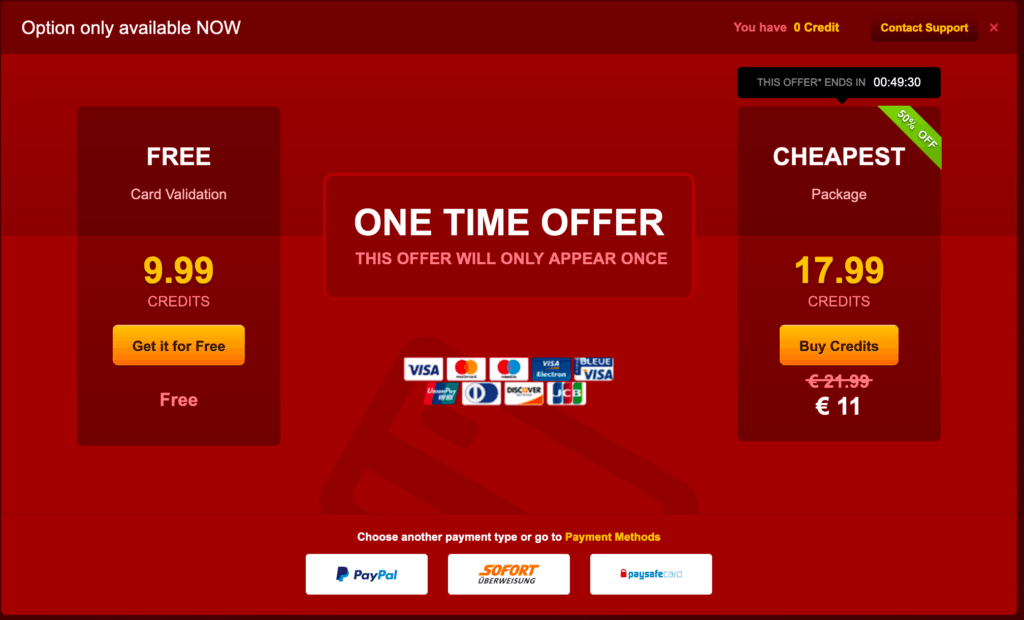 get free livejasmin credits with card validation