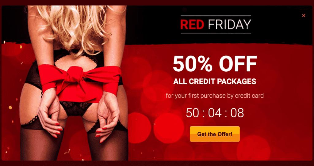 Livejasmin Black Friday - The 50% OFF