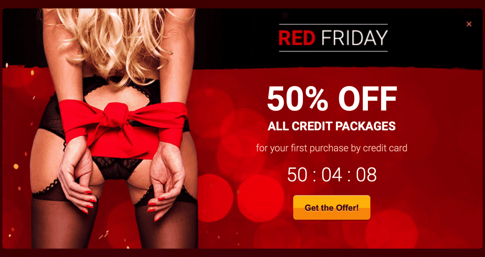 Livejasmin Black Friday - The 50% OFF