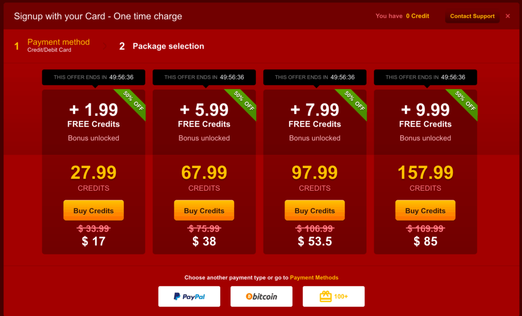 Livejasmin Red Friday - Cheaper credits