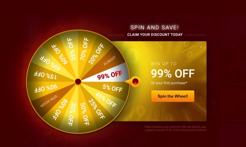 Livejasmin gold lucky wheel for new users - 99% off
