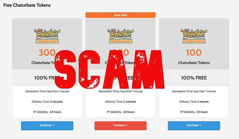 chaturbate currency hack scam