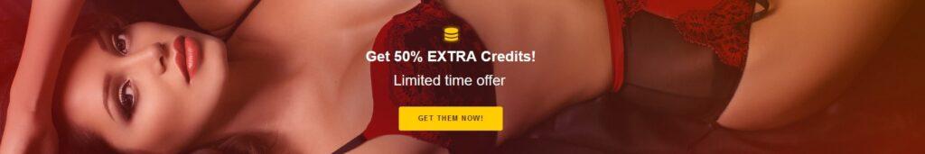 Bimbim get 50 percent free credits on your purchase