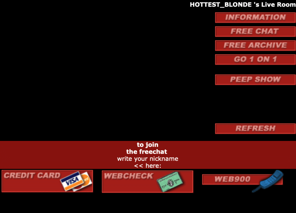 Old Livejasmin freechat from 2002