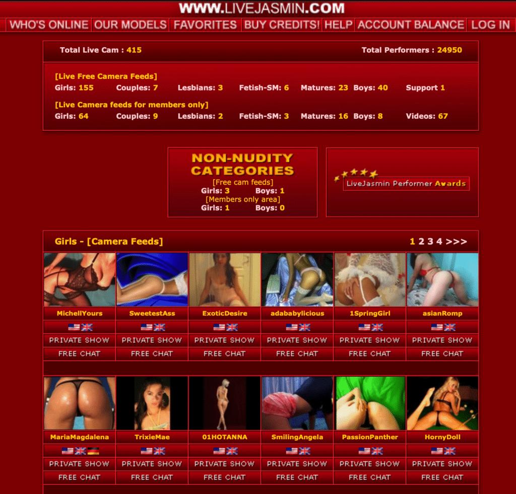 Livejasmin previous version 2006